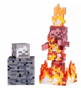 Игровая фигурка Jazwares Minecraft Скелет в огне серия 4 (19974M)