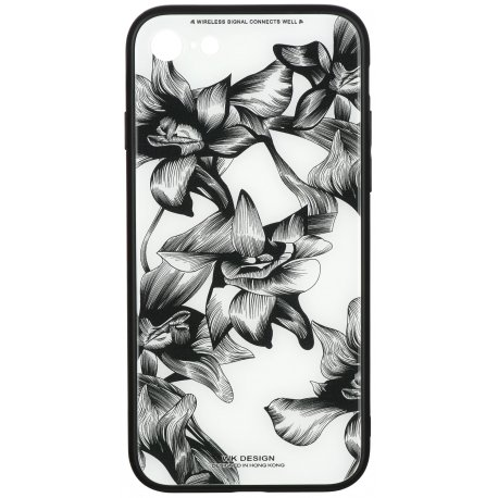 Чeхол WK для Apple iPhone 7/8 (WPC-061) Flowers BK/WH