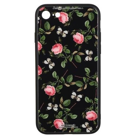Чeхол WK для Apple iPhone 7/8 (WPC-061) Flowers RD/BK