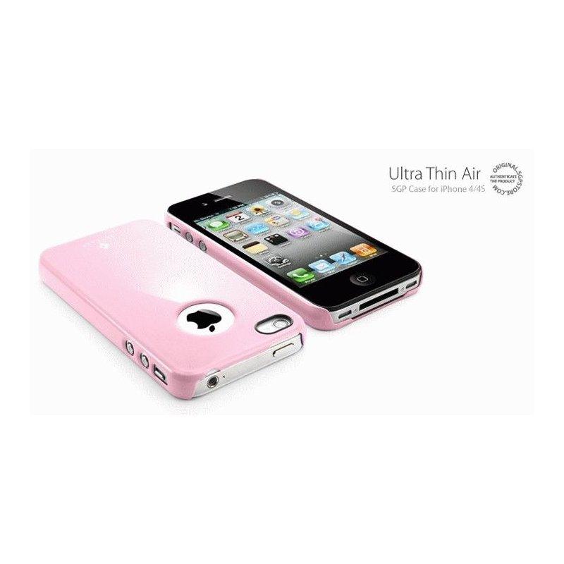 SGP iPhone 4/4s Case Ultra Thin Air Pastel Series Sherbet Pink