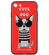 Чeхол WK для Apple iPhone 7/8 (WPC-087) Cute Dog Red