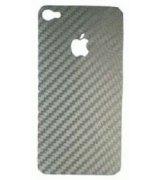 Carbon Fiber виниловый скин-наклейка для iPhone 4/4s Silver