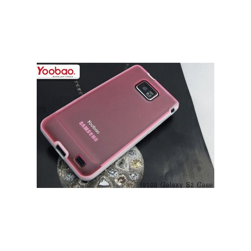 Yoobao накладка TPU Skin Cover для Samsung i9100 Galaxy S 2 Pink
