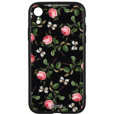 Чeхол WK для Apple iPhone XR (WPC-061) Flowers RD/BK