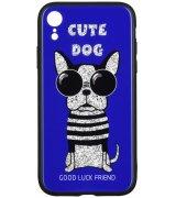 Чeхол WK для Apple iPhone XR (WPC-087) Cute Dog Blue