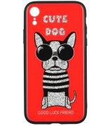 Чeхол WK для Apple iPhone XR (WPC-087) Cute Dog Red