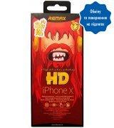 Защитное пленка Remax для Apple iPhone X 2 in 1