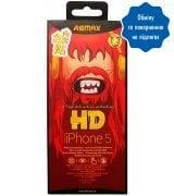 Защитное стекло Remax для Apple iPhone 5/5S/SE 2 in 1