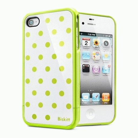 SGP iPhone 4/4s Case Linear Biskitt Series Welshcorgi салатовый
