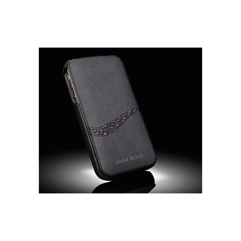 SGP iPhone 4/4s Leather Case Anne Rossi Series Twilit Black