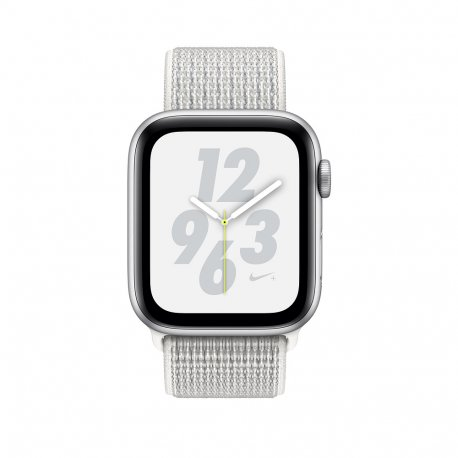 Apple Watch Series 4 Nike+ 44mm (GPS+LTE) Silver Aluminum Case with Summit White Nike Sport Loop (MTXA2)