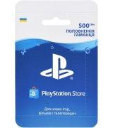 PlayStation Store пополнение бумажника: Карта оплаты 500 грн