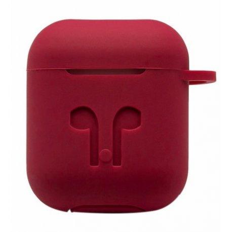 Чехол Silicone Case для Apple AirPods Rose Red