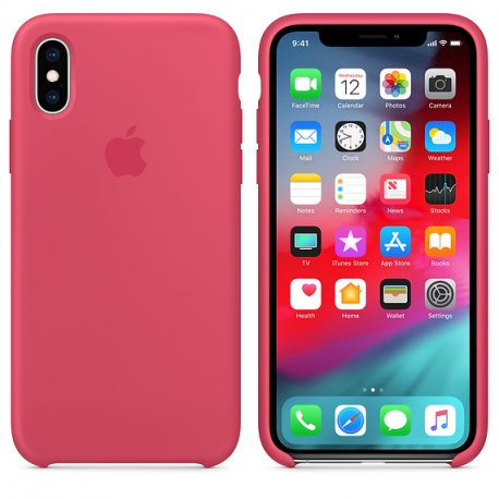 Чехол Apple iPhone XS Silicone Case Hibiscus (MUJT2)