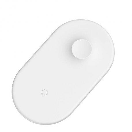 Беспроводное зарядное устройство Baseus 2 in 1 Wireless Charger White