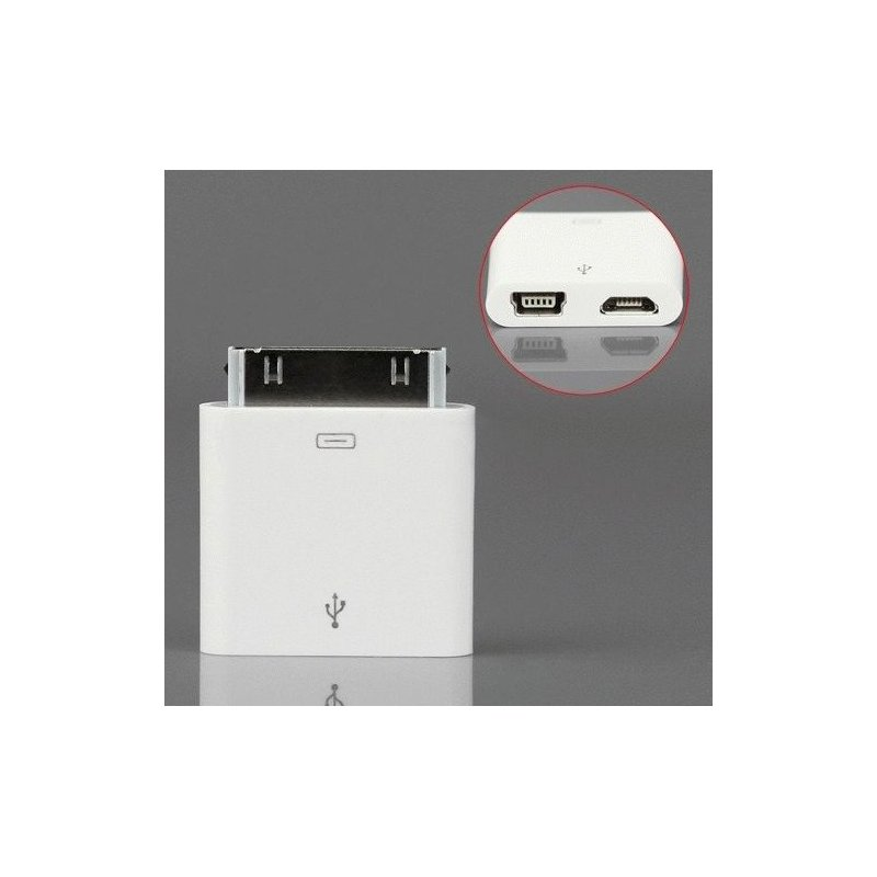 Apple USB Mini-Micro переходник для iPod iPhone 4/4s/3GS