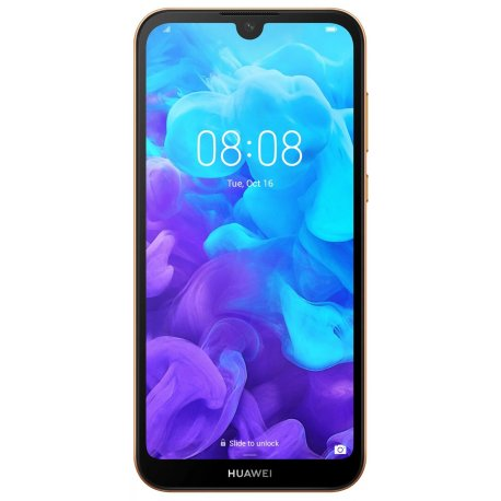 Huawei Y5 2019 Brown Faux Leather