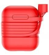 Чехол Baseus Silicone Case для Apple AirPods Red (TZARGS-09)