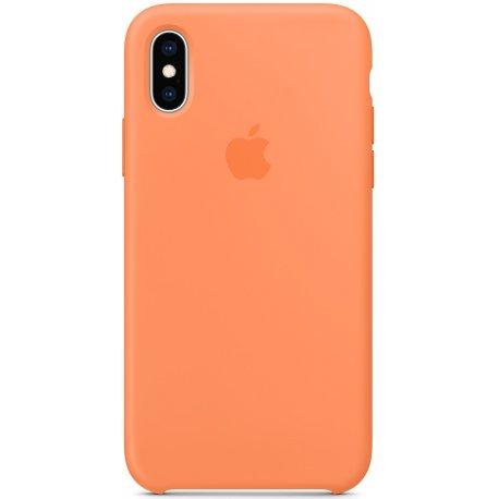 Чехол Apple iPhone XS Silicone Case Papaya (MVF22)