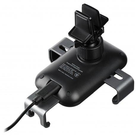 Автомобильный держатель 2E Car Mount Rotating Wireless Charger 10W Black