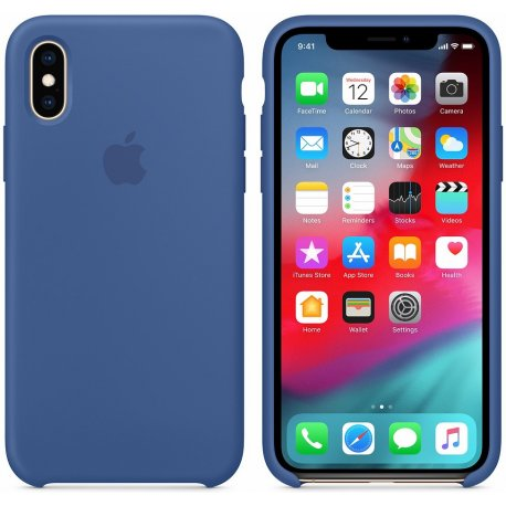 Чехол Apple iPhone XS Silicone Case Delft Blue (MVF12)