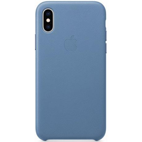 Чехол Apple iPhone XS Leather Case Cornflower (MVFP2)