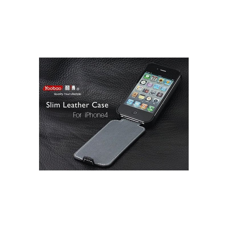 Yoobao Slim Leather Case для iPhone 4/4s Black