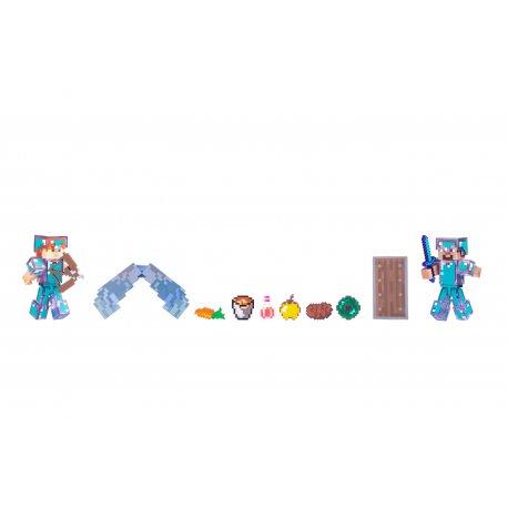 Игровая фигурка Jazwares Minecraft Steve & Alex набор 2 шт (16472M)