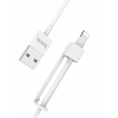 Кабель Hoco X31 2 in 1 Lightning Cable 1m White