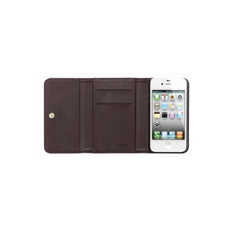 SGP iPhone 4/4s Leather Case Ava Karen Series Dark Brown