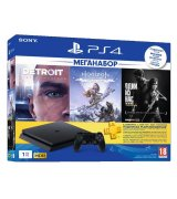 Sony PlayStation 4 Slim 1TB + Horizon Zero Dawn. Complete Edition + Detroit + The Last of Us + PSPlus 3 месяца