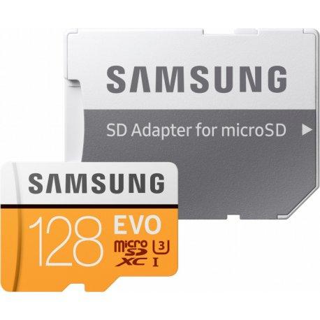 Карта памяти Samsung microSDXC 128GB EVO UHS-I U3 Class 10 (MB-MP128GA/APC)
