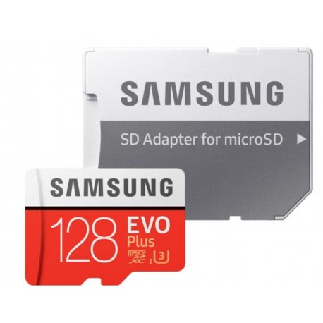 Карта памяти Samsung microSDXC 128GB EVO Plus UHS-I U3 Class 10 (MB-MC128GA/RU)