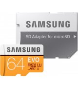 Карта памяти Samsung microSDHC 64GB EVO UHS-I U3 Class 10 (MB-MP64GA/APC)