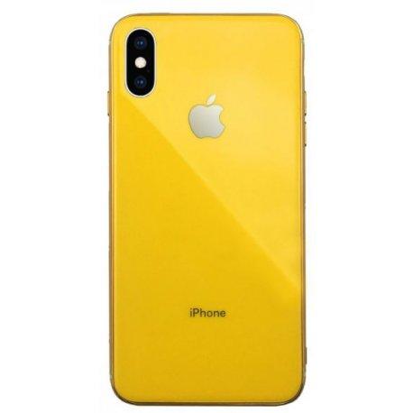 Чехол Clear Case для Apple iPhone XS Yellow