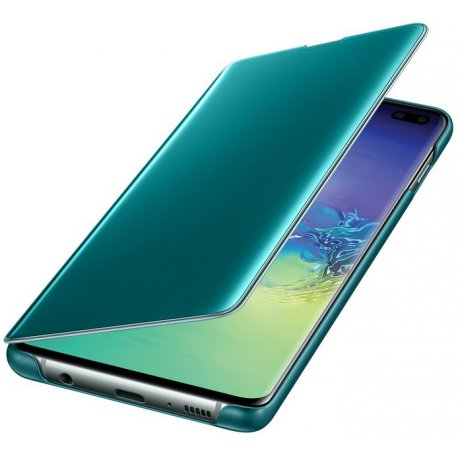 Чехол Clear View Cover для Samsung Galaxy S10 Plus Green (EF-ZG975CGEGRU)