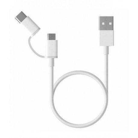 Кабель Xiaomi Mi 2in1 USB Cable micro/type-c 1м White