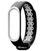 Ремешок Strap для фитнес-браслета Xiaomi Mi Band 3/4 Black-White