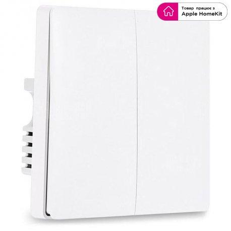 Умный выключатель Aqara Smart Light Switch (Double-Button) (QBKG03LM)
