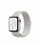 Apple Watch Series 4 Nike+ 40mm (GPS) Silver Aluminum Case with Summit White Nike Sport Loop (MU7F2)