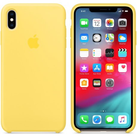 Чехол Apple iPhone XS Max Silicone Case Canary Yellow (MW962)