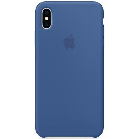 Чехол Apple iPhone XS Max Silicone Case Deft Blue (MVF62)