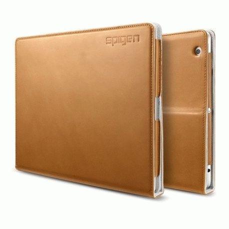 Чехол для ipad 3 New/iPad 2 SGP Folio Series Leather Case Brown