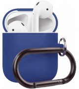 Чехол Silicone Case для Apple AirPods with Carbine Blue Cobalt