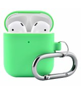 Чехол Silicone Case для Apple AirPods with Carbine Green