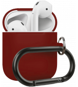 Чехол Silicone Case для Apple AirPods 2 with Carbine Bordo