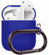 Чехол Silicone Case для Apple AirPods 2 with Carbine Blue