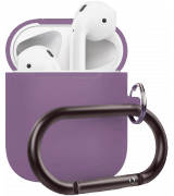 Чехол Silicone Case для Apple AirPods 2 with Carbine Lavender Gray