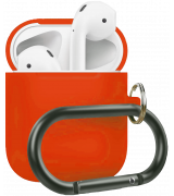 Чехол Silicone Case для Apple AirPods 2 with Carbine Spicy Orange
