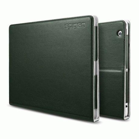 Чехол для ipad 3 New/iPad 2 SGP Folio Series Leather Case Dark Green